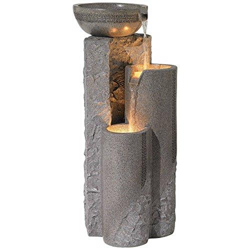 John Timberland Faux Marble Bowl Amp Pillar 34 1 2 Quot H Indoor