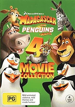 Madagascar 1-3 / Penguins of Madagascar 4 Movie Collection