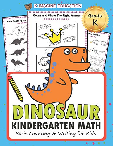 Game Counting Kindergarten - Dinosaur Kindergarten Math Grade K: Basic Counting and Writing for Kids (math kindergarten)