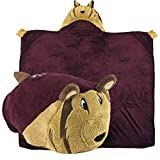 Comfy Critters Stuffed Animal Blanket – College Mascot, Texas A&M University 'Reveille' – Kids huggable pillow and blanket perfect for the big game, tailgating, pretend play, travel, and much more.
