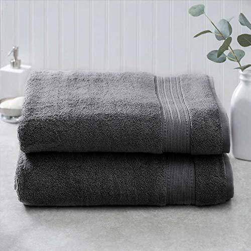 Charisma 100% Hygro Cotton 2-piece Bath Sheet Set - Gray