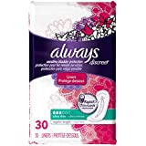 Always Discreet, Incontinence Liners, Ultra Thin, Regular Length, 30 Count