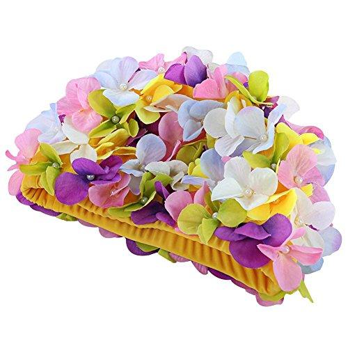 Etopsell Swim cap Floral Petal Retro Style Bathing Caps for Women
