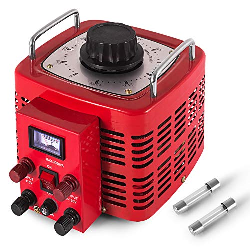 Isolation Transformer In Built (VEVOR 3KVA Transformer Max 30 Amp Variable Transformer 0~130 Volt Output Variable AC Voltage Regulator for Industries Equipment Appliances)