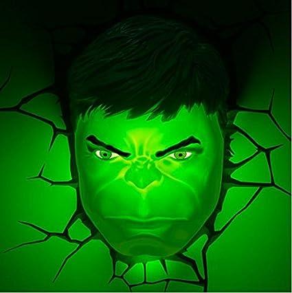 Hulk face 3d deco superhero wall night light amazon hulk face 3d deco superhero wall night light aloadofball Image collections
