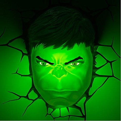 Hulk Face Superhero Night Light product image