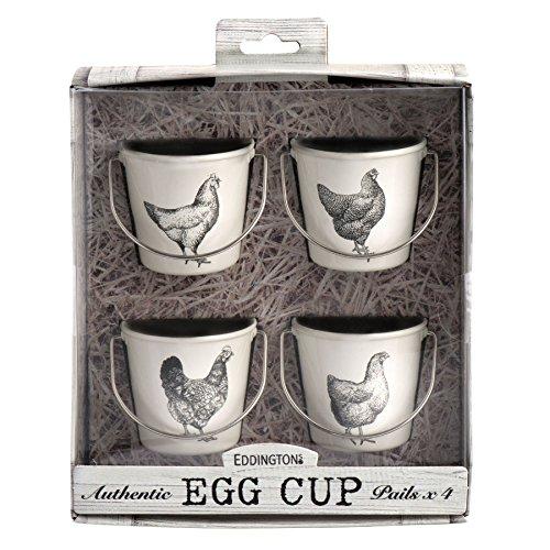 Eddingtons Vintage Hens Egg Cup Pails, Set of 4 by Eddingtons (Image #1)
