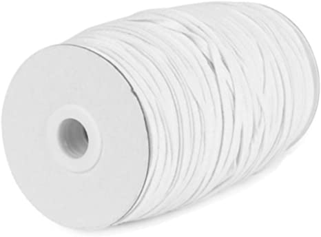 Elastic 6mm White Flat