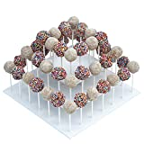"The Smart Baker 3 Tier Square White Cake Pop Stand, Holds 52 Cake Pops""As Seen on Shark Tank"""