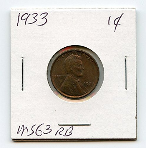 1933 Lincoln Cent MS63