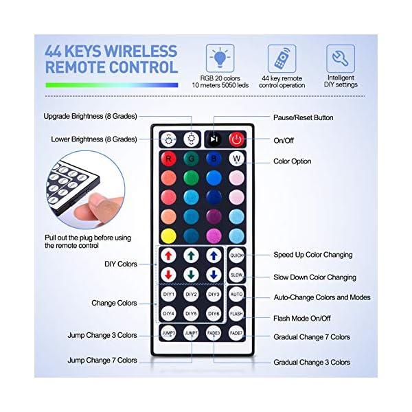 LED Strip Lights, 16.4ft RGB LED Light Strip 5050 LED Tape Lights, Color Changing LED Rope Lights with Remote for Home… 5
