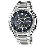 Casio Wave Ceptor Men's Analogue/Digital Quartz Watch with Solid Stainless Steel Bracelet – WVA-M650D