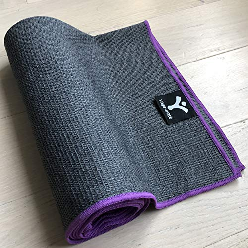 Luxury Sweat Grip Mat Towel: Yoga Mate Sticky Grip Yoga Towel The Best Non-Slip Towel