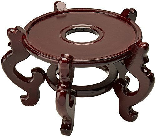 Oriental Furniture Rosewood Fishbowl Stand Size 9 5 In