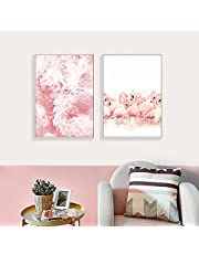 djim45aoy Wall Poster Home Print for Living Room Flamingo Sea Painting Decorative Picture Home Living Room Decor Wall Art Poster - 2# 30cm x 40cm