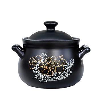 Cazuela Cocina hogar Llama Abierta Estufa de Gas Salud Especial 焖 Quema cazuela Piedra Olla Avena Olla de Sopa de cerámica: Amazon.es