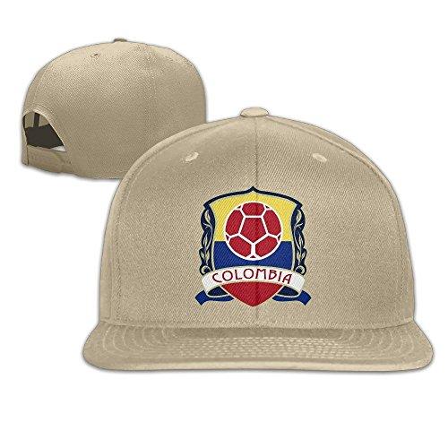 MaNeg Columbia Soccer Team Unisex Fashion Cool Adjustable Snapback Baseball Cap Hat One Size - Atlanta Fendi