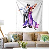 """cushawee Tapestry Wall Hanging A Pair of Spanish Flamenco Dancers Bedspread Picnic Bedsheet Blanket Wall Art Tapestry 60"""" x 80"""""""