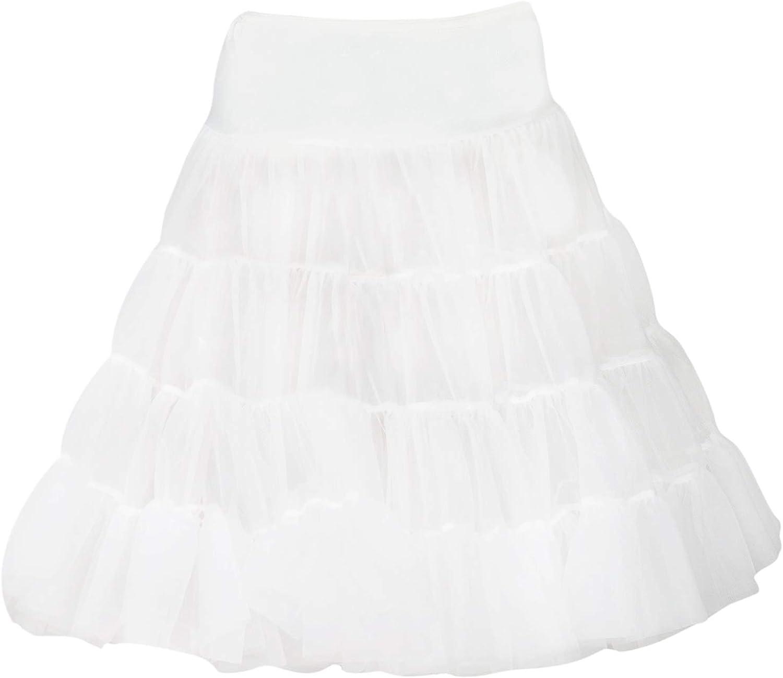 ICM White Tea Length Bouffant Petticoat Baby Toddler Little Girls 2T-6X