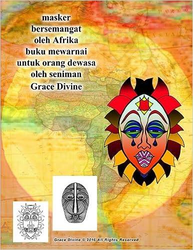 Masker Bersemangat Oleh Afrika Buku Mewarnai Untuk Orang Dewasa Oleh