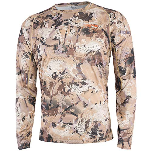 SITKA Gear New for 2019 CORE Lightweight Crew - LS Optifade Waterfowl Large