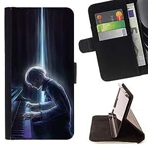 """For Samsung Galaxy E5 E500,S-type Calabaza de la caída de Halloween Otoño"""" - Dibujo PU billetera de cuero Funda Case Caso de la piel de la bolsa protectora"""
