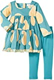 Masala Baby Kids' Gypsy Paisley Dress & Legging Set, Teal, 3-6 Months