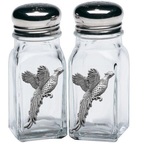 Heritage Pewter Pheasant Salt & Pepper Shakers (Pepper Pheasant And Shakers Salt)