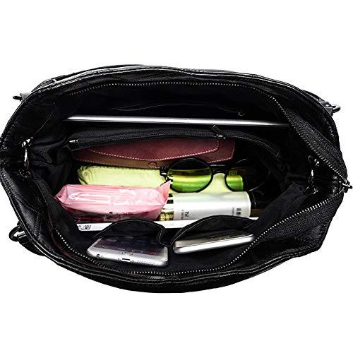 Dimensione Moda Agopo 13 Rivetto Red Donna 35 Casual A colore Messenger 27cm Bag Semplice Tracolla Borsa Red 66wq7r1p