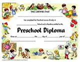 16 Pack HAYES SCHOOL PUBLISHING DIPLOMAS PRESCHOOL 30 PK 8.5 X 11