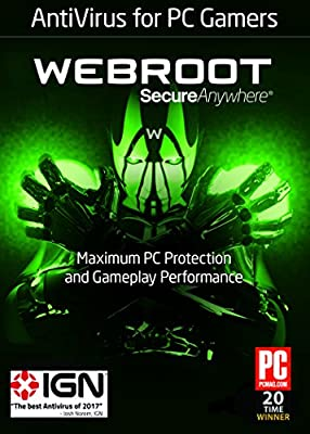 Webroot Antivirus Protection and Internet Security for PC Gamers | 1 Year | 1 Device | PC Download