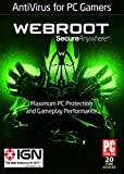 Software : Webroot Antivirus Protection and Internet Security for PC Gamers | 1 Year | 1 Device | PC Download