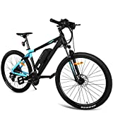 Cosway NEW 27.5'' Electric Mountain Bike,350W 10.4Ah Electric Bicycle with Large Removable Lithium-Ion Battery with Pedal Assist [US STOCK]