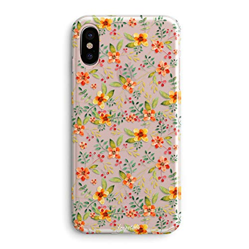 iPhone XR Case,Pink Spring Colorful Tropical Floral Summer Flowers Camellia Cute Beach Love Vintage Orange Blossom Daisy Roses Spanish Girls Women Clear Rubber Case Compatible for iPhone ()