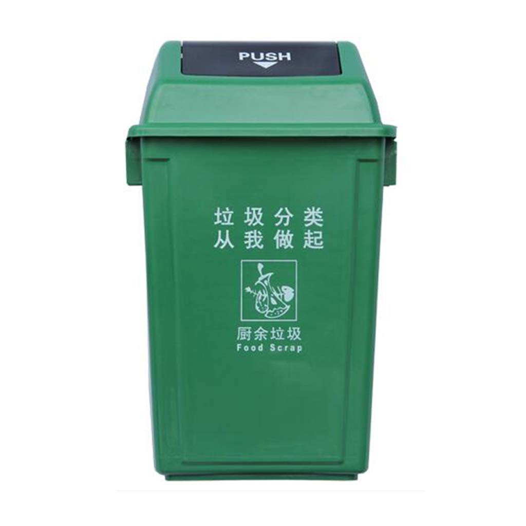Goquik Classified Trash Can Outdoor Property Community School Kindergarten Class Classroom Has A Multi-Color Optional Trash Can (Color : Green) by Goquik