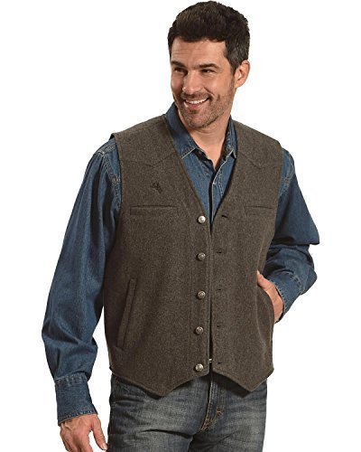 Wyoming Traders Men's Wool Vest (XL, Charcoal)