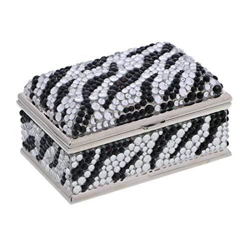 - Li'Shay Glamorous Treasure Jewelry Box with Rhinestones - Black Silver