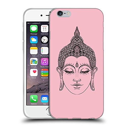 GoGoMobile Coque de Protection TPU Silicone Case pour // Q07700630 Bouddha 6 Rose // Apple iPhone 6 4.7""