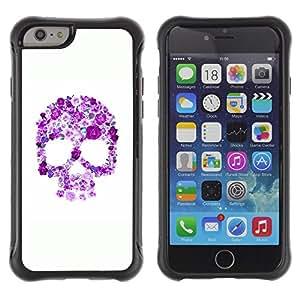 Be-Star único patrón Impacto Shock - Absorción y Anti-Arañazos Funda Carcasa Case Bumper Para Apple iPhone 6 Plus(5.5 inches)( Floral Purple Skull White Pink Spring )