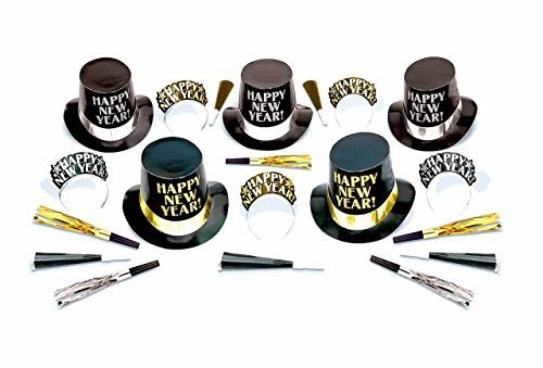 Midnight Elegance New Year's Party Kit - 10 People