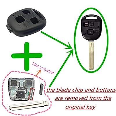Key Fob Shell Case Replacement For Lexus Keyless Entry Remote Key Case Fit For Lexus GS300 GS400 GS430 GX470 IS300 LS400 LS430 LX470 RX300 RX330 RX350 RX400h RX450h SC430: Automotive