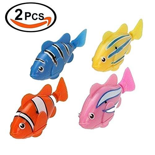 image 2 PCS Life jouets électroniques Mini Robotic poisson Fun robot (coloré)