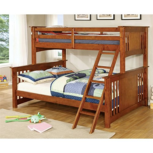 Furniture of America Roderick Twin over Queen Wood Bunk Bed