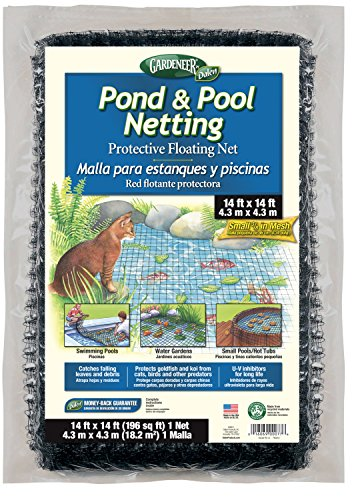 ond & Pool Netting Protective Floating Net 14' x 14' (Pond Cover Net)