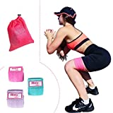 Booty Resistance Workout Hip Exercise Bands – Fitness Loop Circle Exercise Legs & Butt – Activate Glutes & Thighs –  Non Slip Cloth Bootie Training & Lifting Women's 80 Day Obsession For Sale