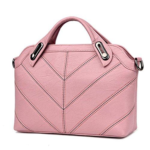 Cross pink de Mode bandoulière Couleurs à Mouton Travail Packets Diagonal à SHOUTIBAO Unique Sac Main en Femmes Shopping Six Sac Peau Simple vZ1IOwnx4q