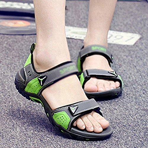 UK7 soled Shoes Sandals Beach EU41 Men's Size Summer C Thick Men's slip Leisure B 8 Color CN42 5 Non MAZHONG Couple Outdoor Men's vAvq0SwU