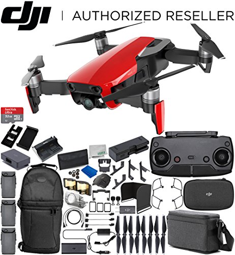 DJI Mavic Air Drone Quadcopter Fly More Combo (Flame Red) 3 Battery Ultimate Bundle Review