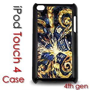 For SamSung Galaxy S4 Mini Case Cover gen Touch Plastic Case - Dr Who Tardis Vincent Van Gogh Painting
