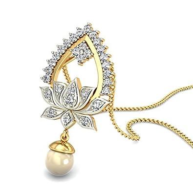 Belle Diamante 18KT Yellow Gold and Diamond Pendant Women